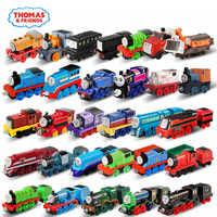 Original thomas e amigos trackmaster 1:43 modelo de trem carro crianças brinquedos para crianças diecast educação presente aniversário