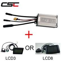 Водонепроницаемый бесщеточный шестерни для электрического велосипеда 6 контроллер МОП-транзистора для е-байка 36В 250 Вт 350 Вт 500 Вт цилиндрическая литий-ионный аккумулятор, KT серии LCD3 LCD8 Дисплей