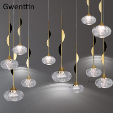 Modern Bubble Crystal Pendant Lights Led Gold Hanging Lamp Living Room Kitchen Lighting Fixtures Suspension Luminaire Loft Decor