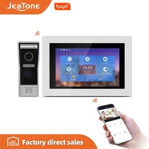 Image 1 - Видеодомофон, 7 дюймов, домофон wifi, IP, беспроводной дверной звонок, колонка, система контроля доступа, сенсорный экран, обнаружение движения