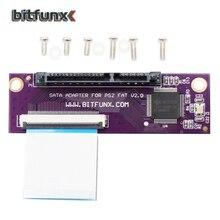Bitfunx Adaptador de Puerto SATA para PS2, juegos de discos duros IDE, adaptador de red original