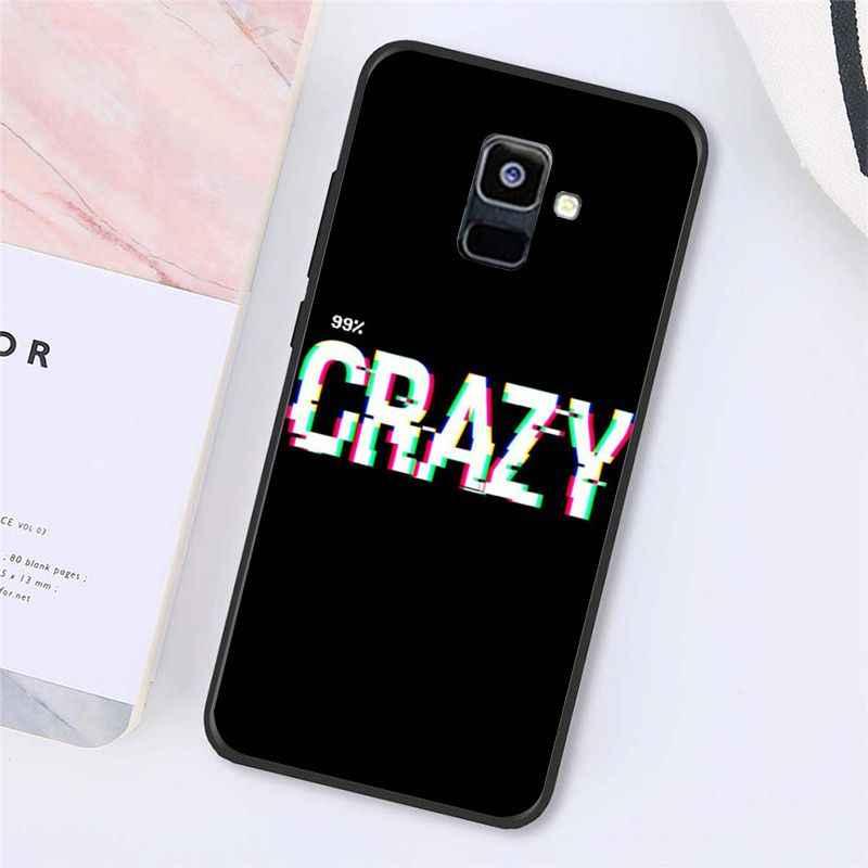 Capa de telefone para samsung galaxy a7 a50 a70 a40 a20 a30 a8 a6 a8 plus a9 2018 babaite texto colorido em um fundo preto
