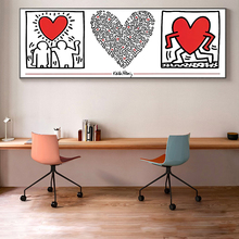 Keith Haring Graffiti Art Posters And Prints Abstract Street Wall Pictures By Peace Love Paintings Cuadros