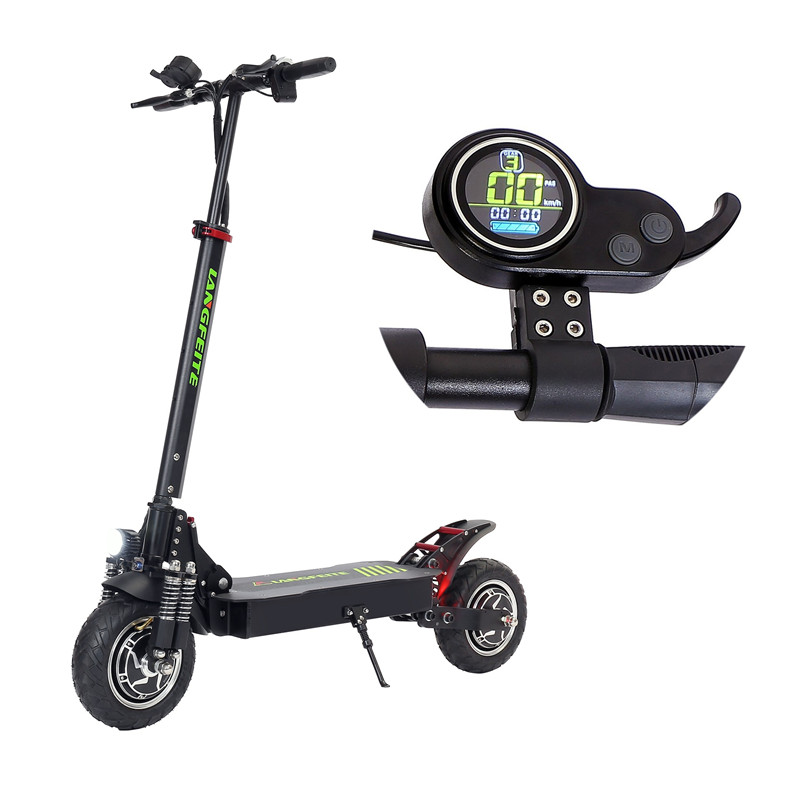 2019 Version 20.8Ah 48V 800W*2 Double-drive Folding Electric <font><b>Scooter</b></font> Color Display DC Brushless Motor Electric Bike Bicycle image