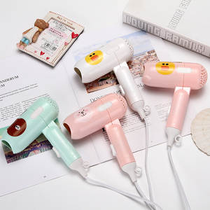 Wholesale Mini Folding Cartoon Blow Dryer Dormitory Small Power Portable Travel Hair Dryer Small Appliances