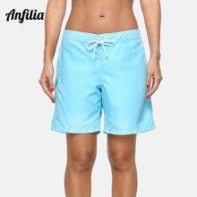 Anfilia Women's Beach Trunks Ladies Strappy Beach Bottom Boy Shorts Swimwear Poc