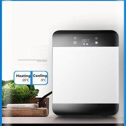 220V 20L Mini refrigerador de coche eléctrico 2 en 1 multifunción portátil 12V viaje coche refrigerador y calentador