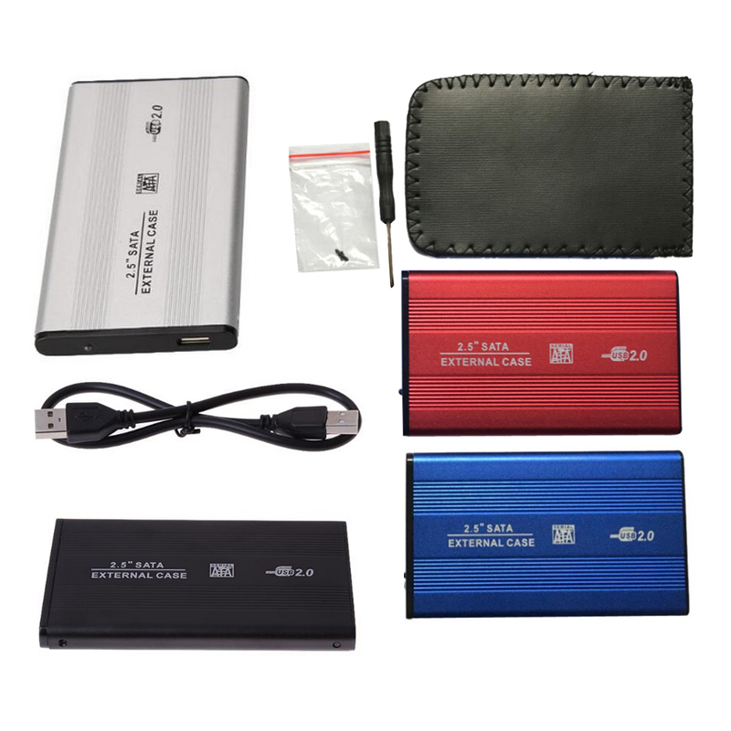2.5inch USB 2.0 External HDD Enclosure <font><b>Box</b></font> 480mbps Support 3TB Aluminum HDD Drive Case for 2.5
