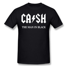 100% cottonJohnny And Cash THE MAN IN BLACKby SQ Humor Graphic Men Women Basic Short Sleeve T-Shirt R241 Tops Tees European Size