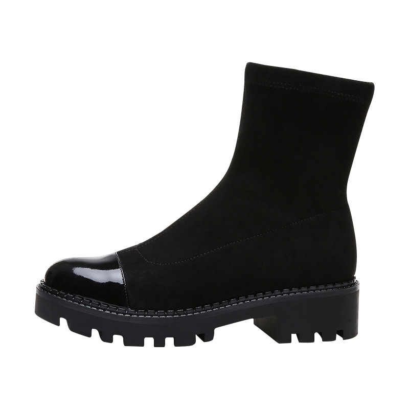 Women's fashion short boots women's socks boots in the tube thick bottom with a single boots skinny boots Martin boots