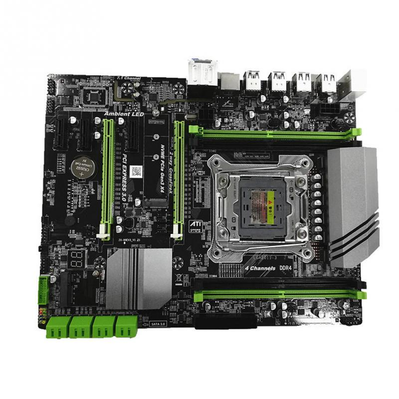 <font><b>X99</b></font> LGA 2011 Motherboard for I3 I5 I7 Xeon DDR4 Four channel Memory 64G REG ECC SATA 3.0 With M.2 SSD Computer Mainboard image
