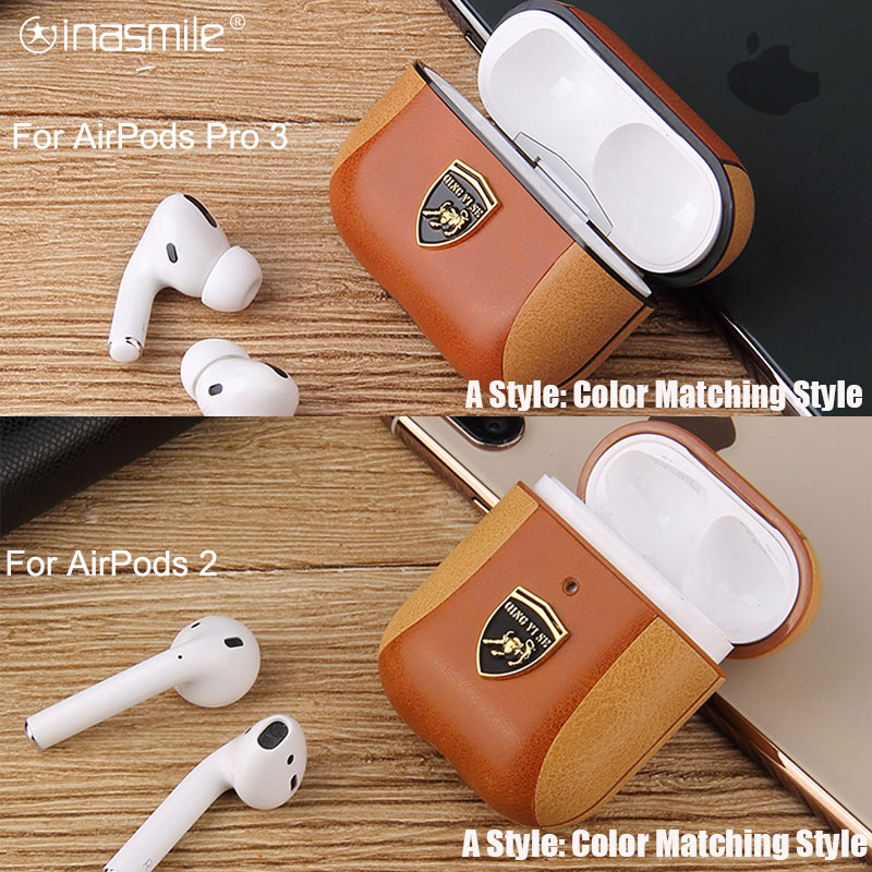 Decent Leather Case For Apple Airpods Pro 3 Cover For Air Pods Pro