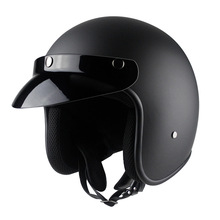 Motorcycle Helmet Retro Vintage Cruiser Chopper Scooter Cafe Racer 3/4 Open Face Moto Unisex C46