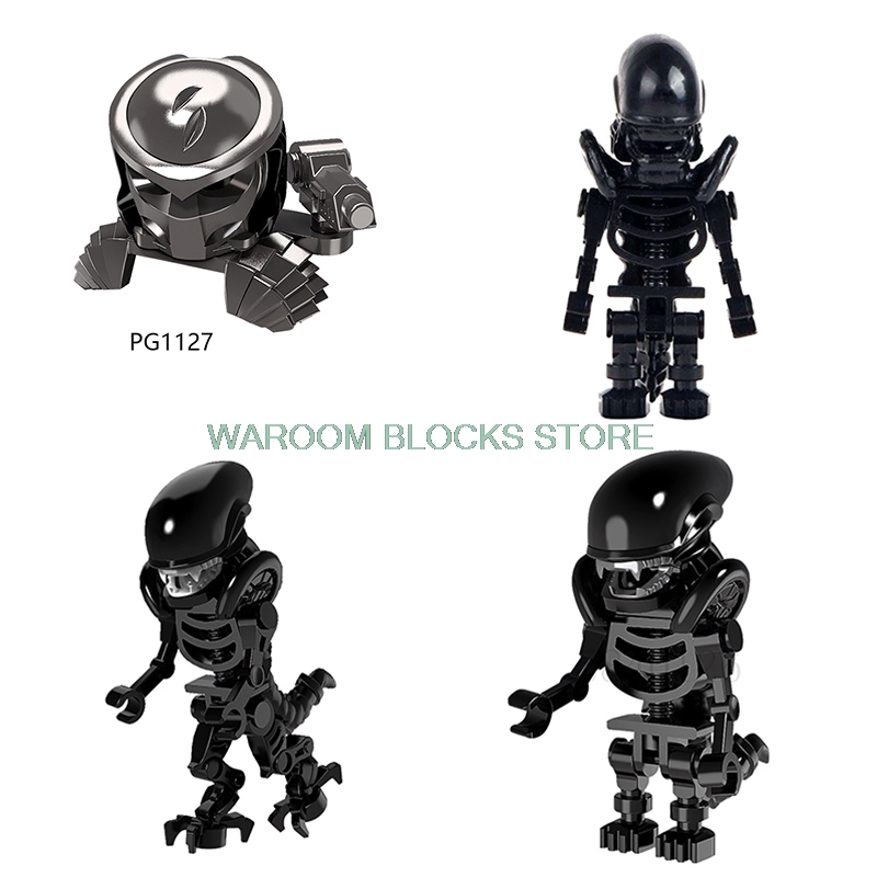 Movie Series Alien The Terminator Alien vs Predator Action Figure Prometheus Ice Monsters Building Blocks Kids Toys For Children