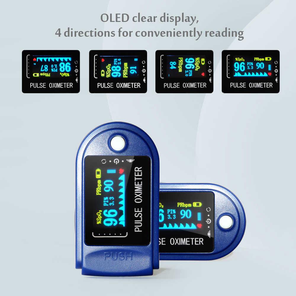เลือดออกซิเจนPULSE Oximeters Digital Fingertipเครื่องวัดความอิ่มตัวของความอิ่มตัวของออกซิเจนแบบพกพาOximetroไม่มีแบตเตอรี่
