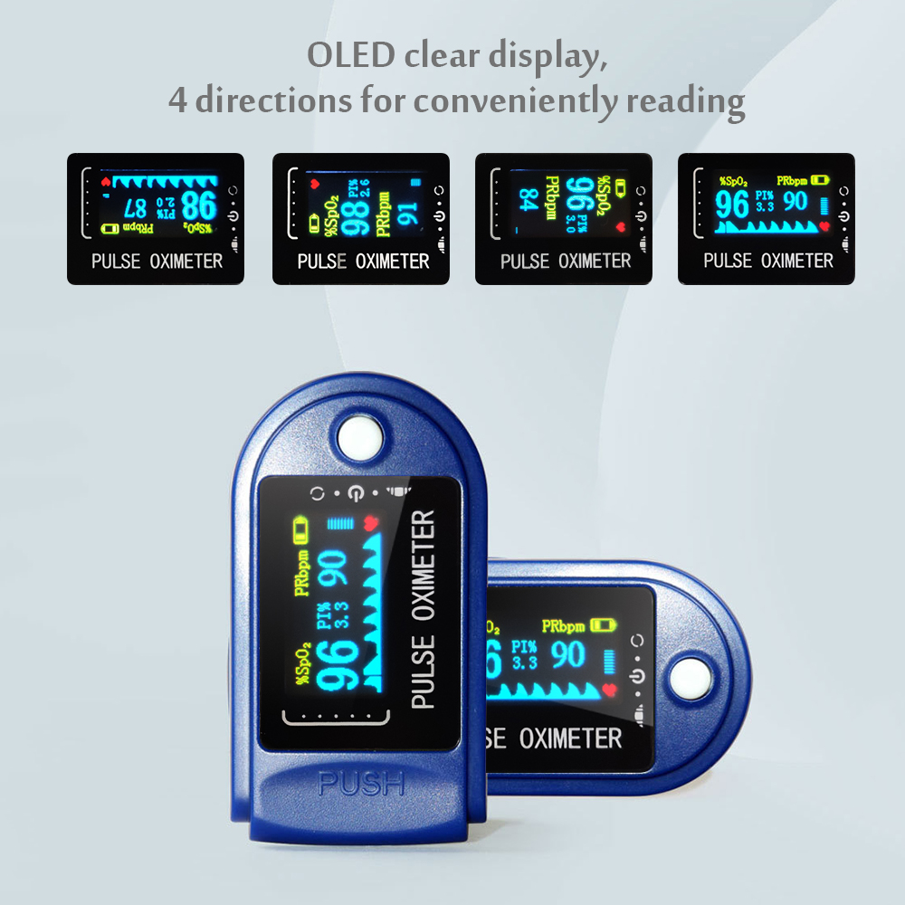 Portable Finger Pulse Oximeter OLED Blood Oxygen Saturation Monitor SpO2 Oximetry Monitor Digtal Oximetro De Dedo пульсоксиметр