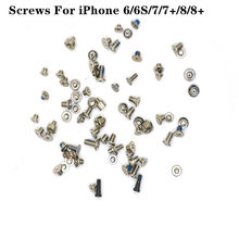 100 PCS Screws Full Screw Set for i Phone 6 6 Plus 6s 6s Plus 7 7 Plus Repair bolt Complete Kit Replacement Parts