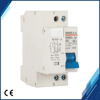 excellent leakage protection residual current circuit breaker mini circuit breaker DPNL 1P+N16A 20A 25A 32A 230V~ 50HZ/60HZ