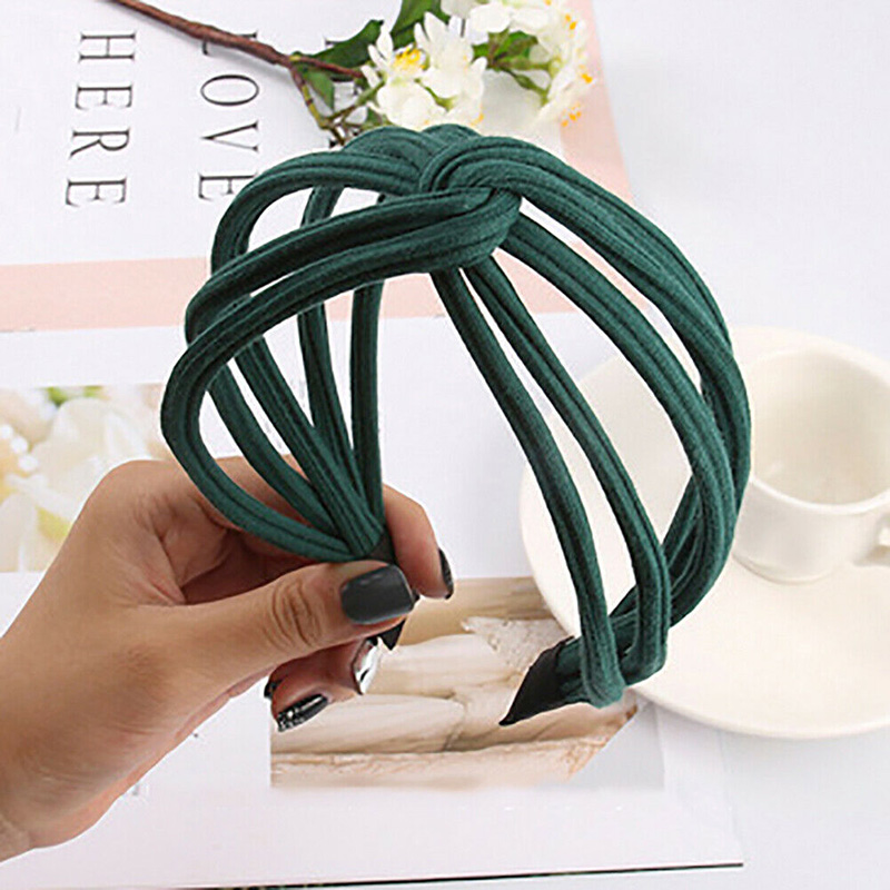 New Hot Women Twist Headband Bow Knot Cross Tie Cloth Headwrap Hairband Hoop SMR88