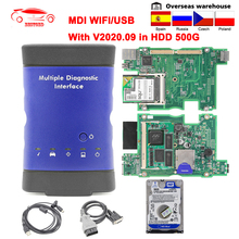V2020.09 per GM MDI WIFI interfaccia diagnostica multipla OBD2 strumenti diagnostici MDI per GM WIFI OBDII Car Auto Scanner 500G HDD