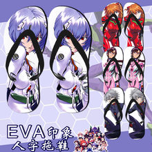 Neon Genesis Evangelion EVA shoes Cosplay Geta Clogs Slippers Japanese Paulownia Wooden Shoes Men Women Beach slippers(China)