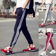 Men Pants Casual Striped Pants Male Plus