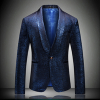 Classic Men Blazer Jacket Slim Fit Men Business Suit Coat Asian Size S M L XL XXXL 4XL 5XL Fashion Men Groom Suit Jackets