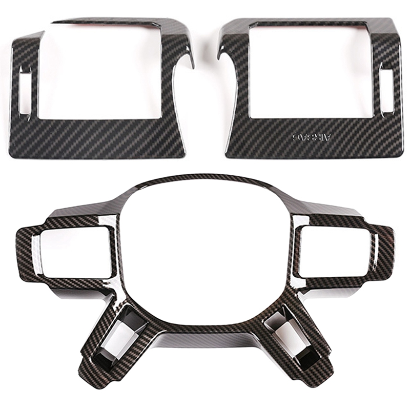Car Side AC Air Vent Frame Cover Trim for Land Rover Defender 110 130 2020 & Steering Wheel Trim Accessories