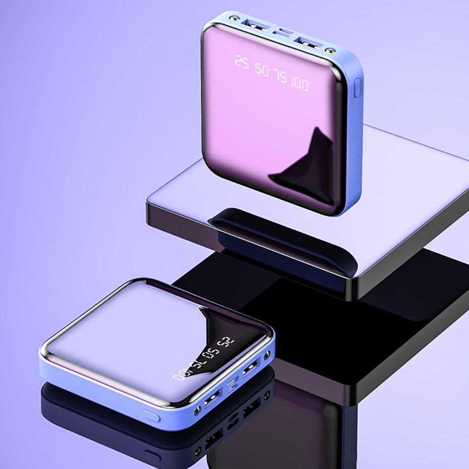 PINZHENG Mini Portable 10000mAh Power Bank For Xiaomi Mi With LED Digital Display 18