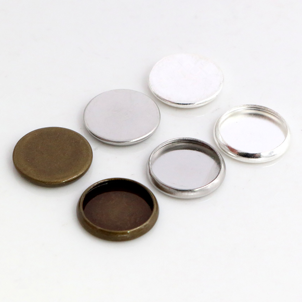 10mm 30pcs Stainless Steel And Copper Material Cameo Settings Cabochon Base Charms Pendant High Quality