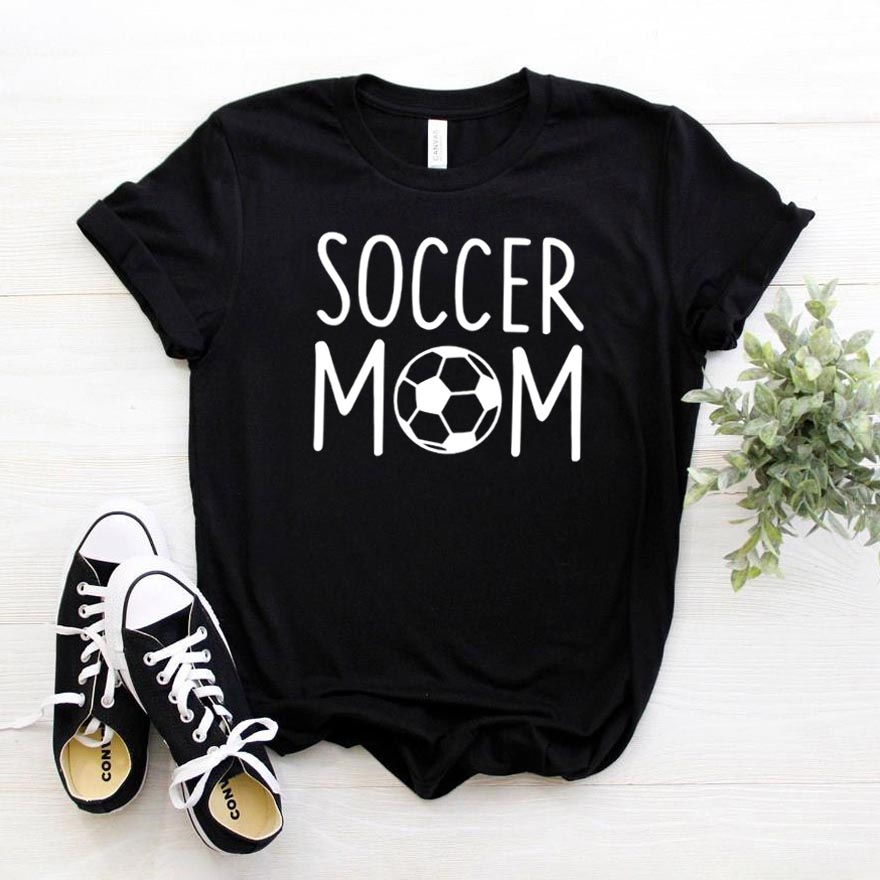 Soccer Mom Print Women Tshirt Cotton Casual Funny T Shirt For Lady Girl Top Tee Hipster Drop Ship NA-289