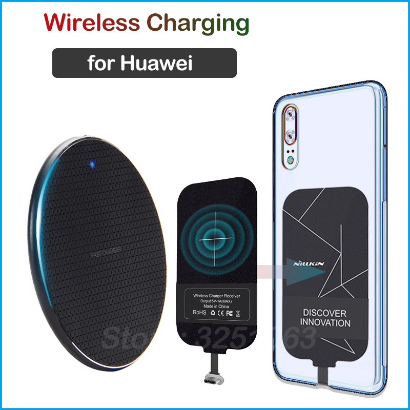 Qi Wireless Charging for Huawei P9 P10 P20 P30 Lite Pro P Smart Nova 2 3 4 5 6 Pro Y6 Y7 Y9 Wireless Charger+Charging Receiver