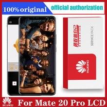 Pantalla Original de 6,39 pulgadas con Marco, reemplazo de huella dactilar para Huawei Mate 20 Pro, pantalla táctil LCD, montaje de digitalizador de LYA L29