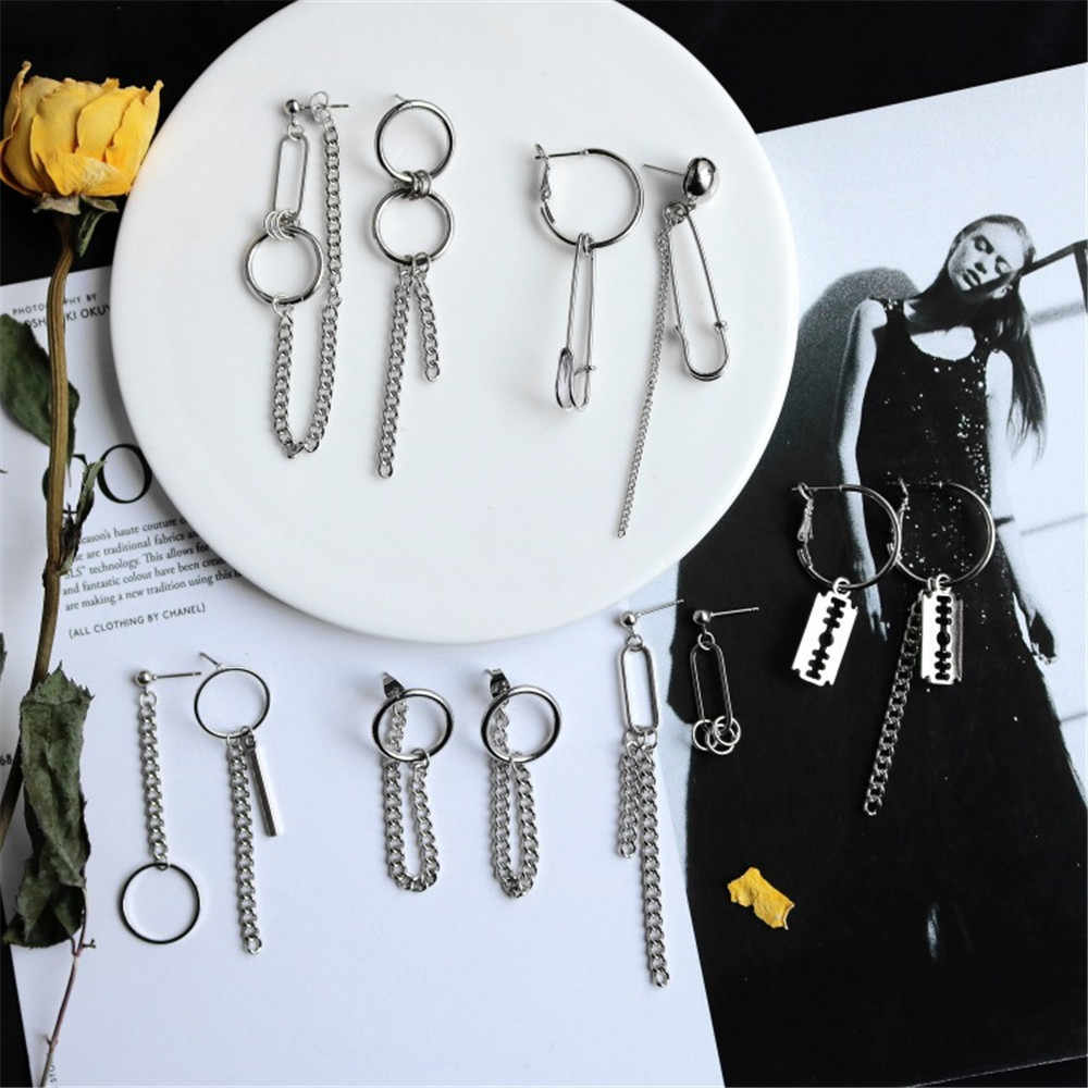 PUNK Sliver ราคาถูก Handcuffs ใบมีดปืน Drop ต่างหูความคิดสร้างสรรค์เครื่องประดับอุปกรณ์เสริมผู้หญิงแฟชั่น Cool ขายส่ง Pistols