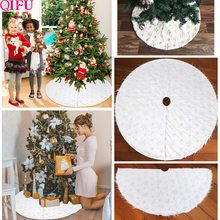QIFU 2019 Christmas Tree Skirt White Snowflake Decorations Ornaments Xmas Decoration New Year