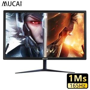 MUCAI 24 дюймовый монитор 165 Гц TN ПК с ЖК-дисплеем Дисплей 144 Гц HD геймера настольный компьютер Экран плоский Панель HDMI/DP