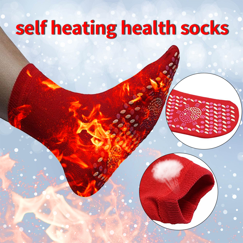 Self-Heating Health Care Socks Tourmaline Magnetic Therapy Comfortable Breathable Massager Winter Warm Tourmaline Socks