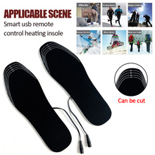 Usb подогреватель тепла нагреватель стелька USB Электрический Подогрев стельки теплая обувь носки обогреватель ног моющиеся зимние колодки FP открытый стельки