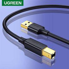 Ugreen USB Drucker Kabel USB Typ B Stecker auf A Stecker USB 2,0 Kabel für Canon Epson HP ZJiang Label drucker DAC Drucker Hohe Geschwindigkeit