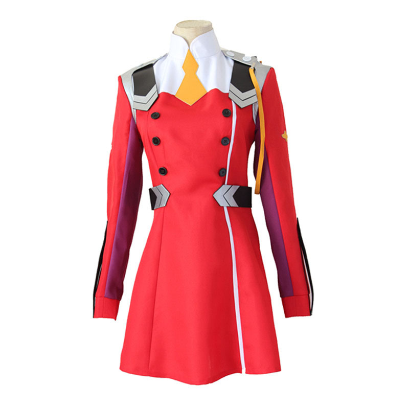 Image 3 - Anime DARLING in the FRANXX Code002 Cosplay Red Gray Dress Cute Work Uniform Party Sexy CostumeGame Costumes   -