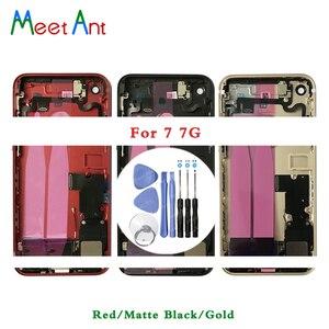 Image 1 - Высокое качество, для iphone 7 7G или 7 Plus, задняя средняя рама, Корпус в сборе, крышка аккумулятора, задняя дверь с гибким кабелем