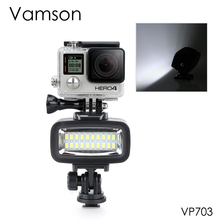 Vamson Accessories for Gopro Hero 7 6 5 4 Underwater Flash Light Lamp