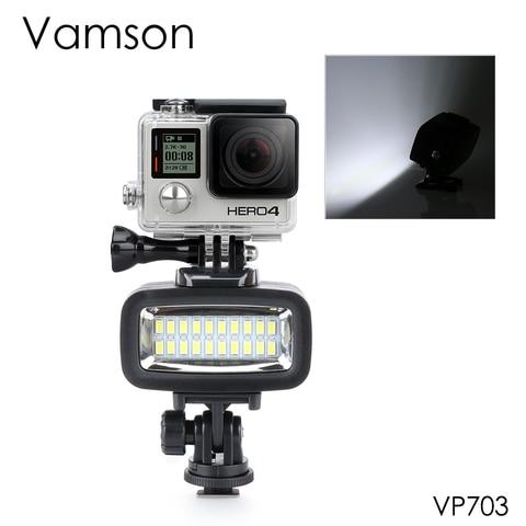 Vamson Accessories for Gopro Hero 7 6 5 4 Underwater Flash Light Lamp Diving Waterproof LED Mount for SJCAM for Xiaomi YI VP703 Pakistan