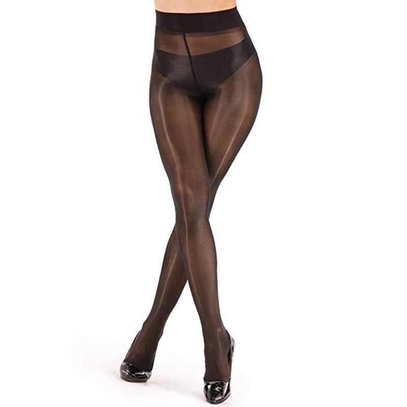 슈퍼 탄성 매직 팬티 스타킹 특별한 소재보다 반짝 이는 오일 샤인 8D Ultrathin Closed Crotch Tights Women