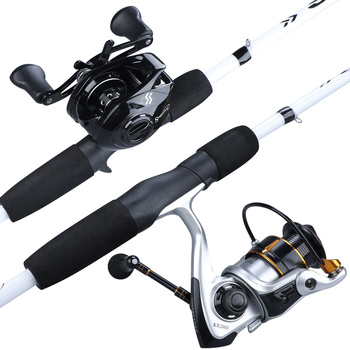 Sougayilang 2 Sections Carbon Fiber Fishing Rod for Reinforced Reel Seats and EVA Handle