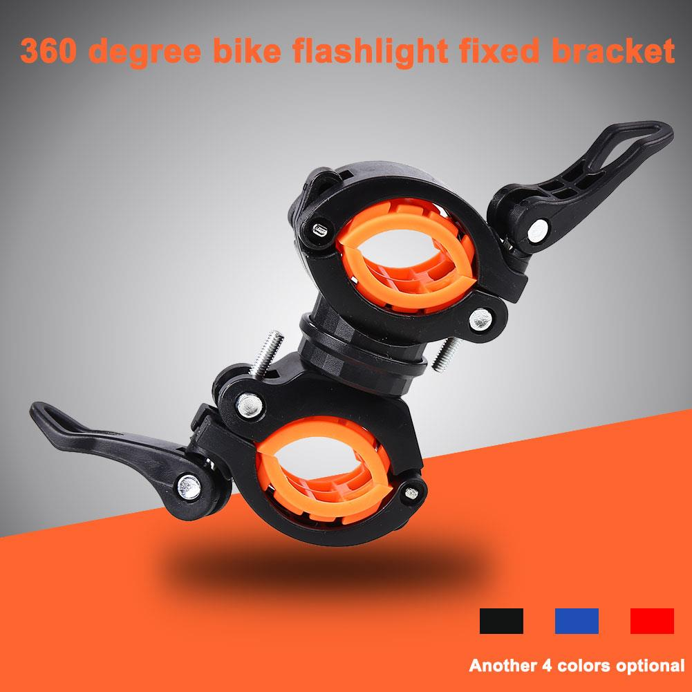 360 Degree Rotation Bike Multi-Function Flashlight Holder Adjustable Cycling Accessories Handlebar Bicycle