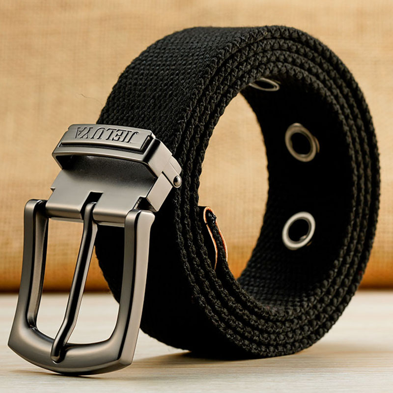 130 140 150 160cm Canvas Military Tactical Belt Man Alloy Pin Buckle Stripe Casual Jeans Belts Women High Quality Outdoor Belts