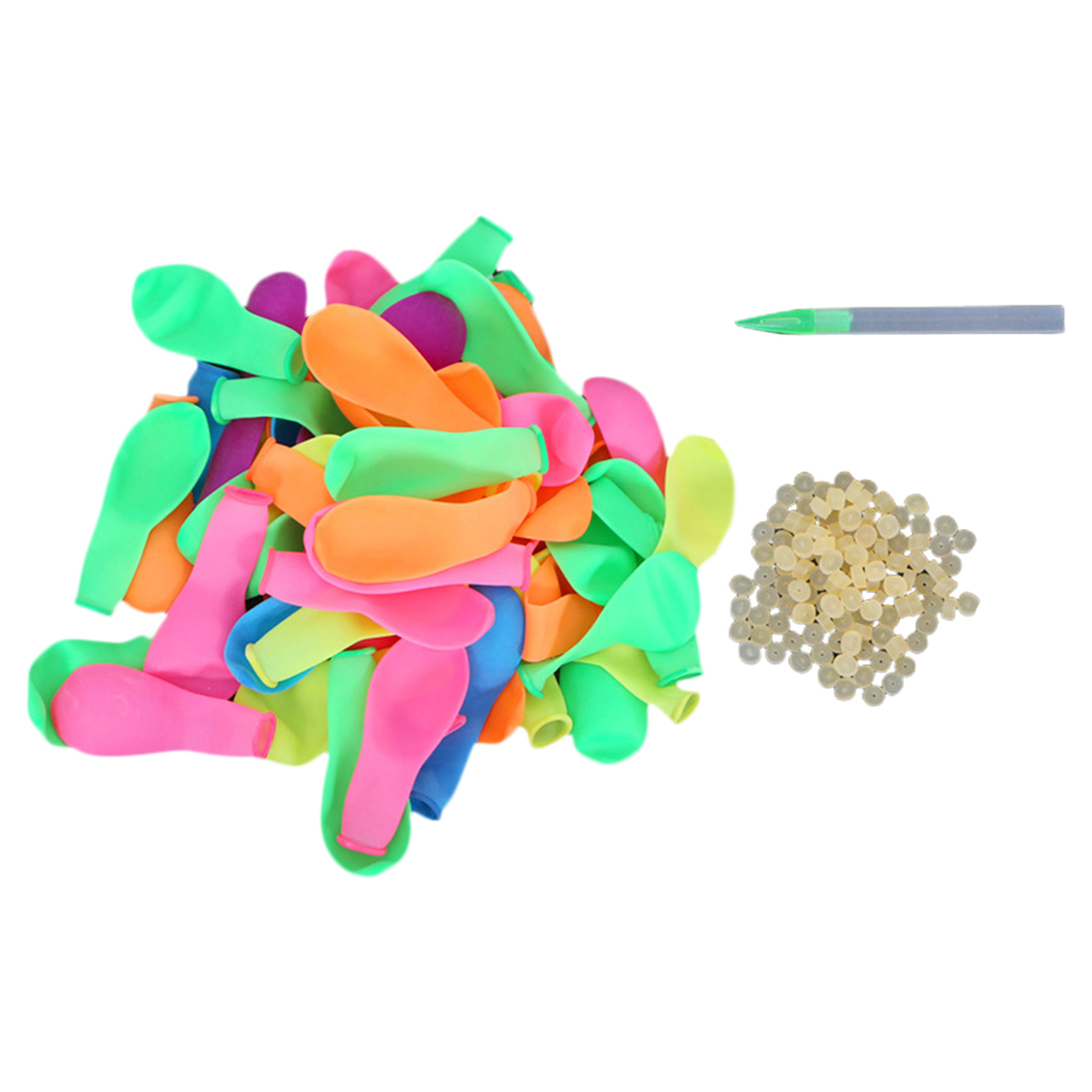 Quiet.T Water Balloon Latex Water Bomb Balloons Fight Games With Refill Kits Latex Bomb Fight Games-Summer Splash Fun For Kids And Adults