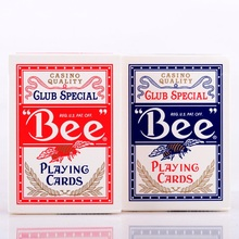 1pcs USA Native Bee Deck Red or Blue Magic Playing Cards Poker Magic Deck Props Magia Magic Tricks for Professional Magician цена 2017