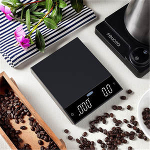 Drip-Coffee-Scale Digital Timer Portable High-Precision with LCD Electronic-Scales Gift